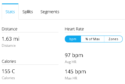 Body Pump - MHR calorie burn 1-9-15