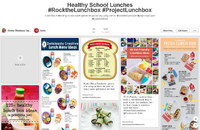 Run DMT Healthy School Lunches  Pinterest Board