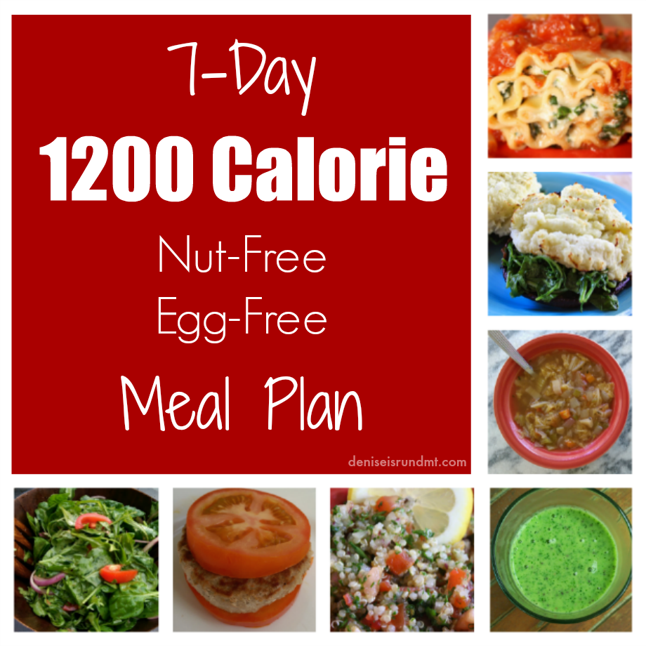7-day 1200 Calorie Meal Plan