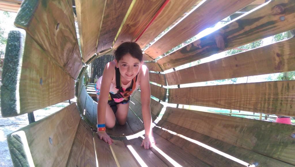 Tallahassee Museum - Emmalynn in Tunnel