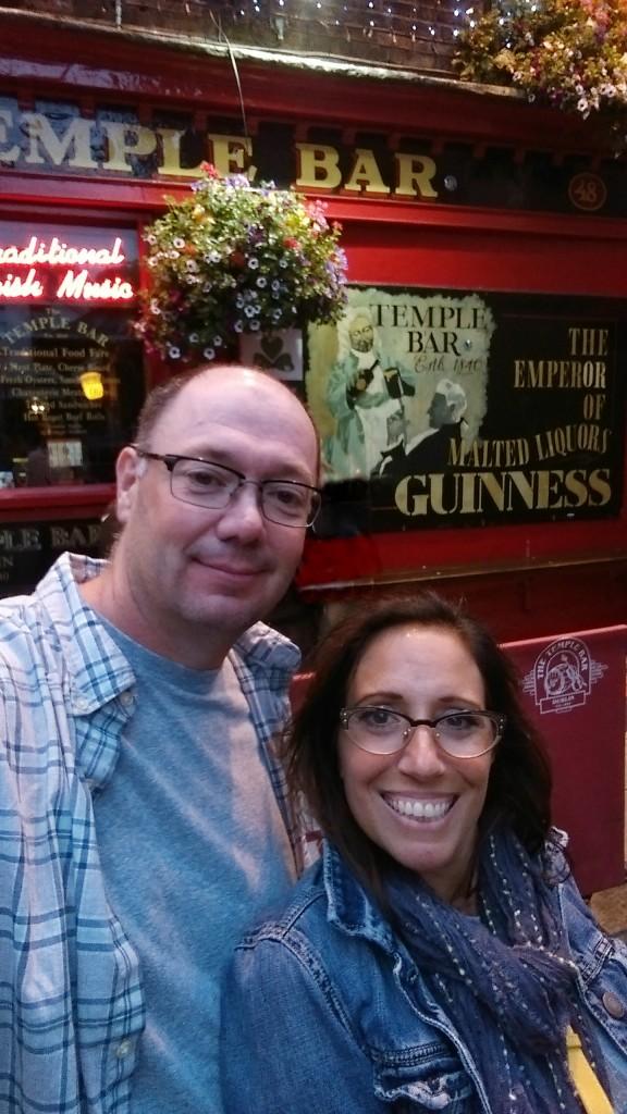 Dublin - Temple Bar - selfie