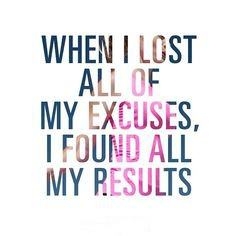 Lost all the excuse-results