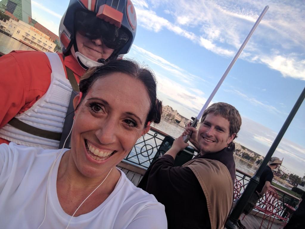 Star Wars Half Marathon - Boardwalk selfie 1