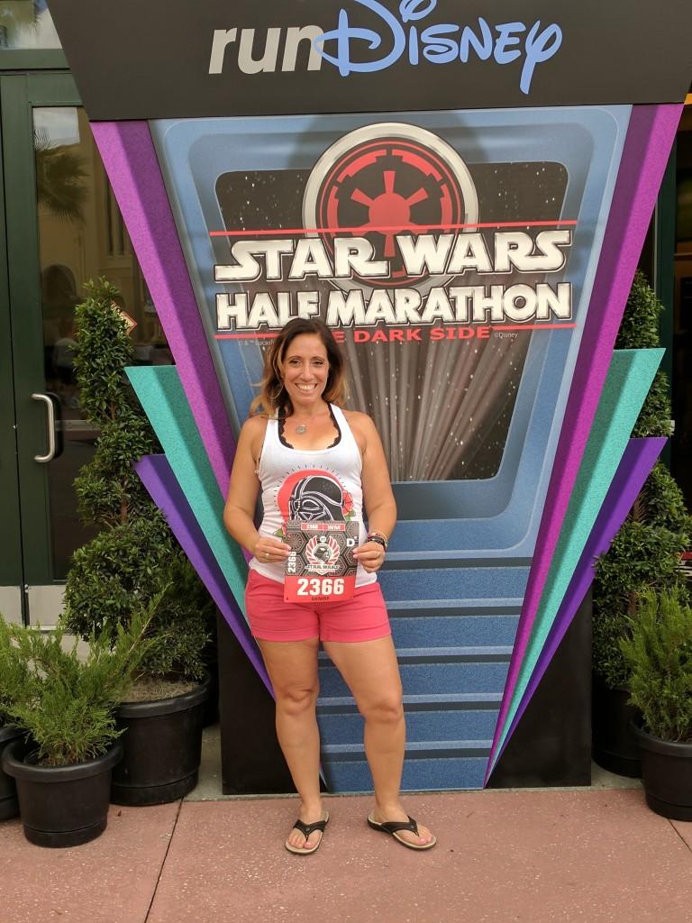 Star Wars Half - bib