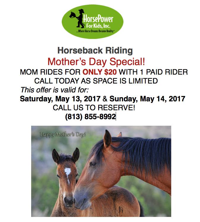 Horsepower 4 Kids - Mother's Day deals