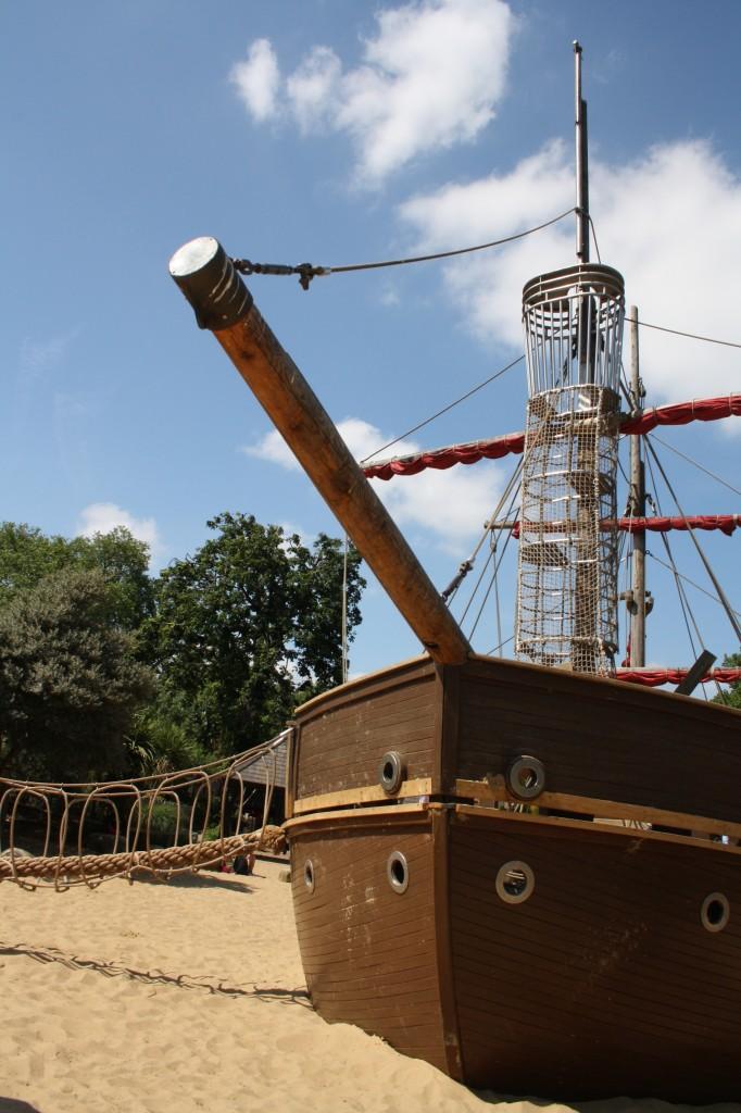 Princess of Wales Memorial Playground_priate ship- Kensignton Gardens