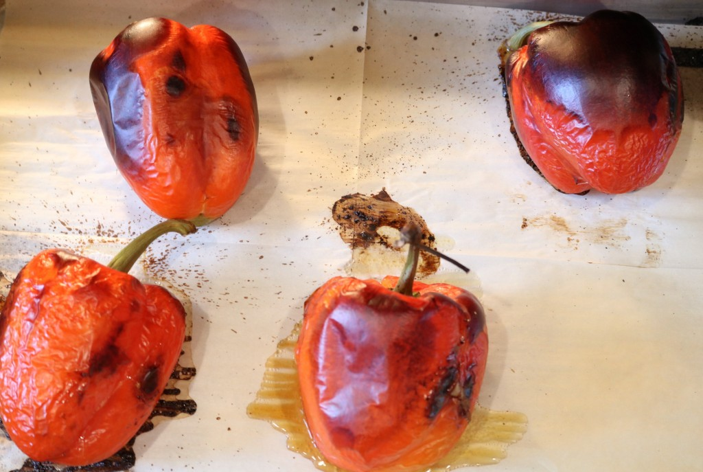 Simple Homemade Roasted Red Bell Peppers
