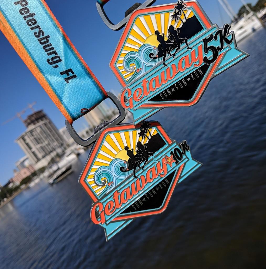 Getaway 10K -5K Medals 2017