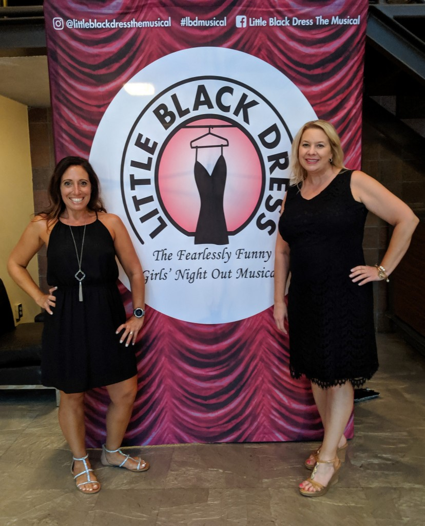 My friend, Candace, and I at opening night for Little Black Dress.
