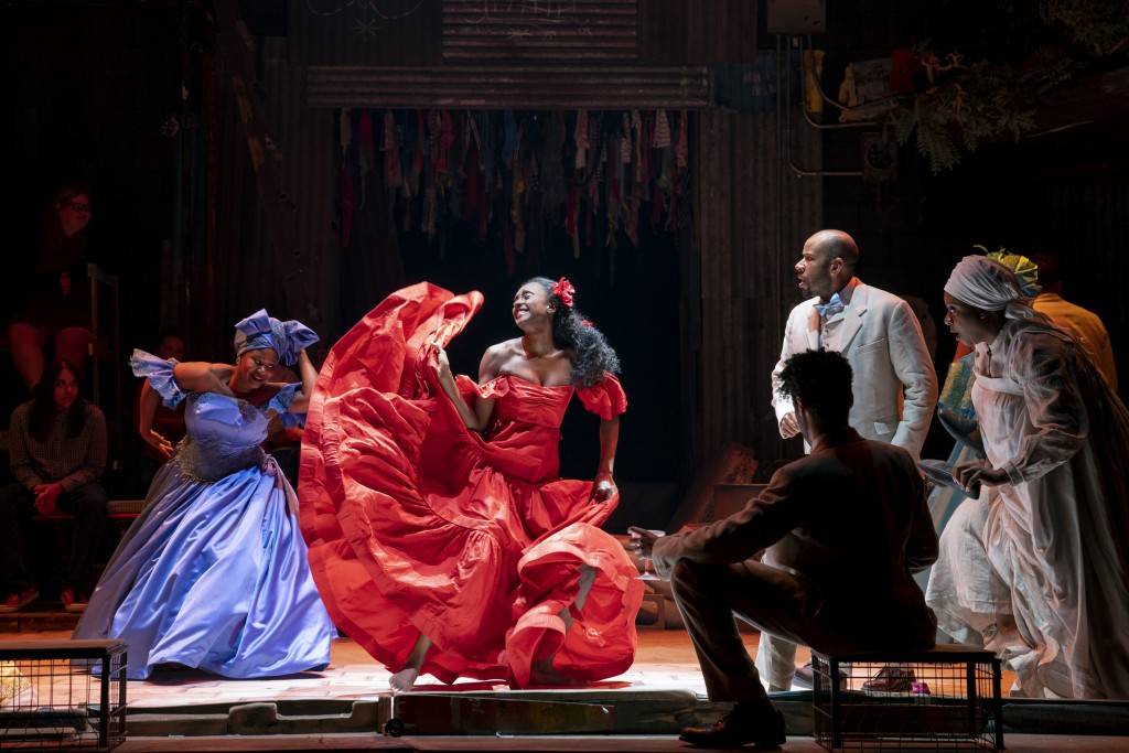 The Company of the North American Tour of ONCE ON THIS ISLAND Photo credit: Joan Marcus.
