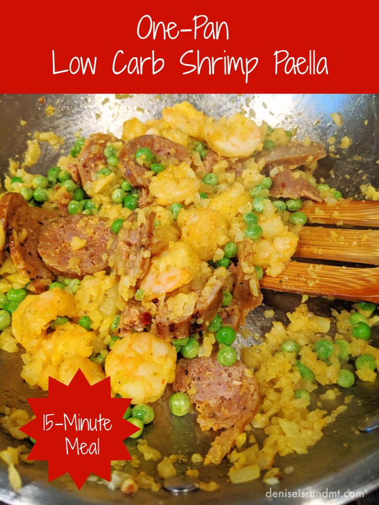 One-Pan 15-Minute Low Carb Shrimp Paella