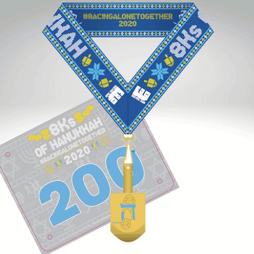 Hanukkah themed virtual race - 8K fun run