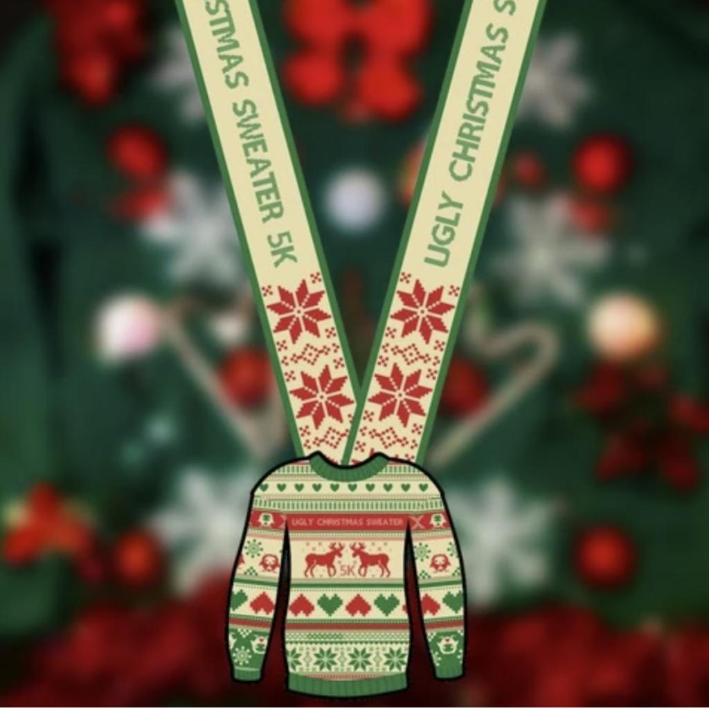 Ugly Christmas sweater themed fun run - virtual race