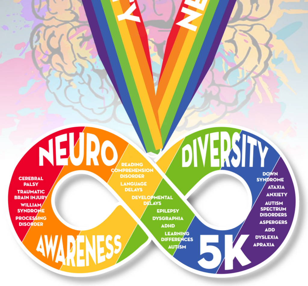 Neurodiversity Awareness - Autism Awareness 5K - Virtual Race