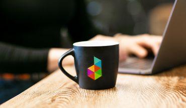 Mug with Dubsado logo on it