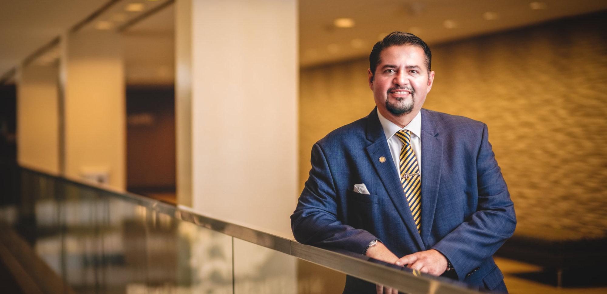 Attorney Joe Flores smiling