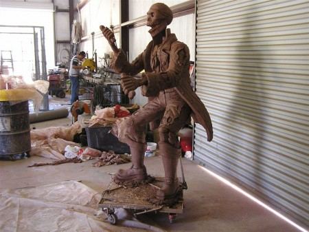 captain jack in clay side view copy