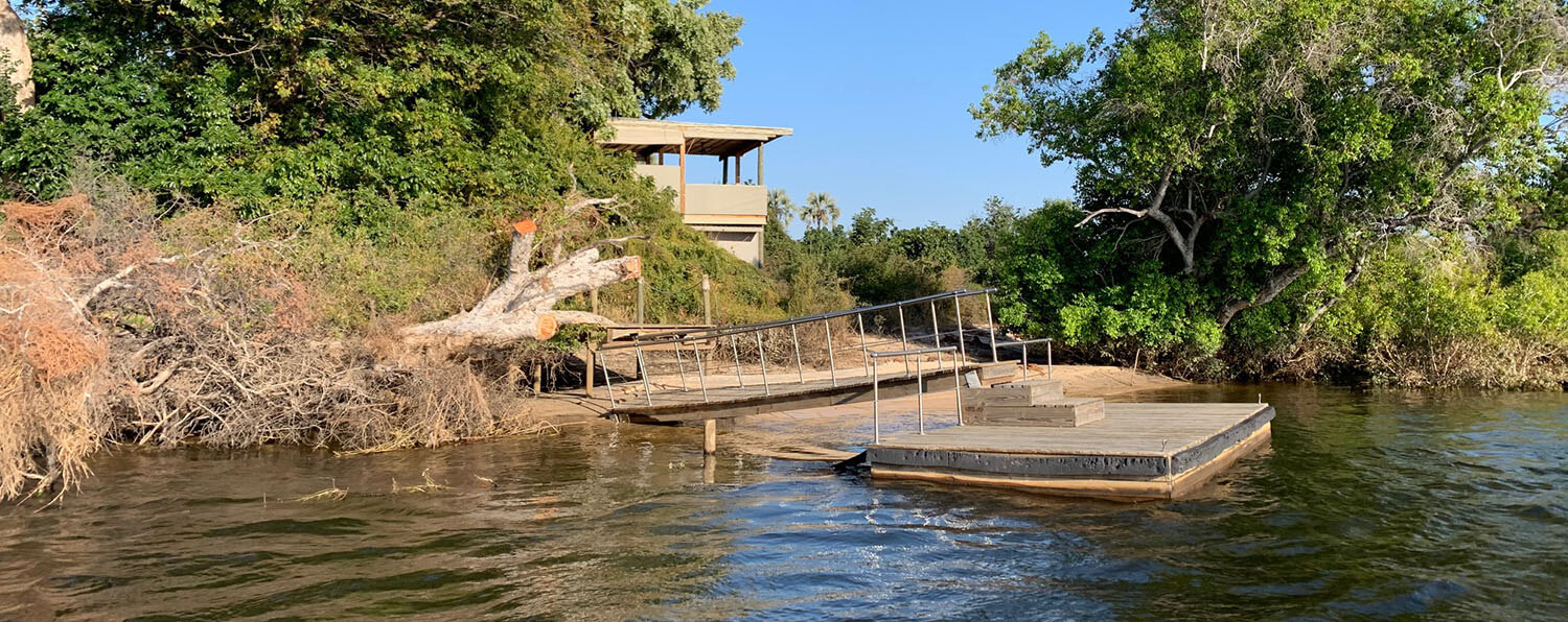 Image of the damaged jetty caused by a Bull Elephant