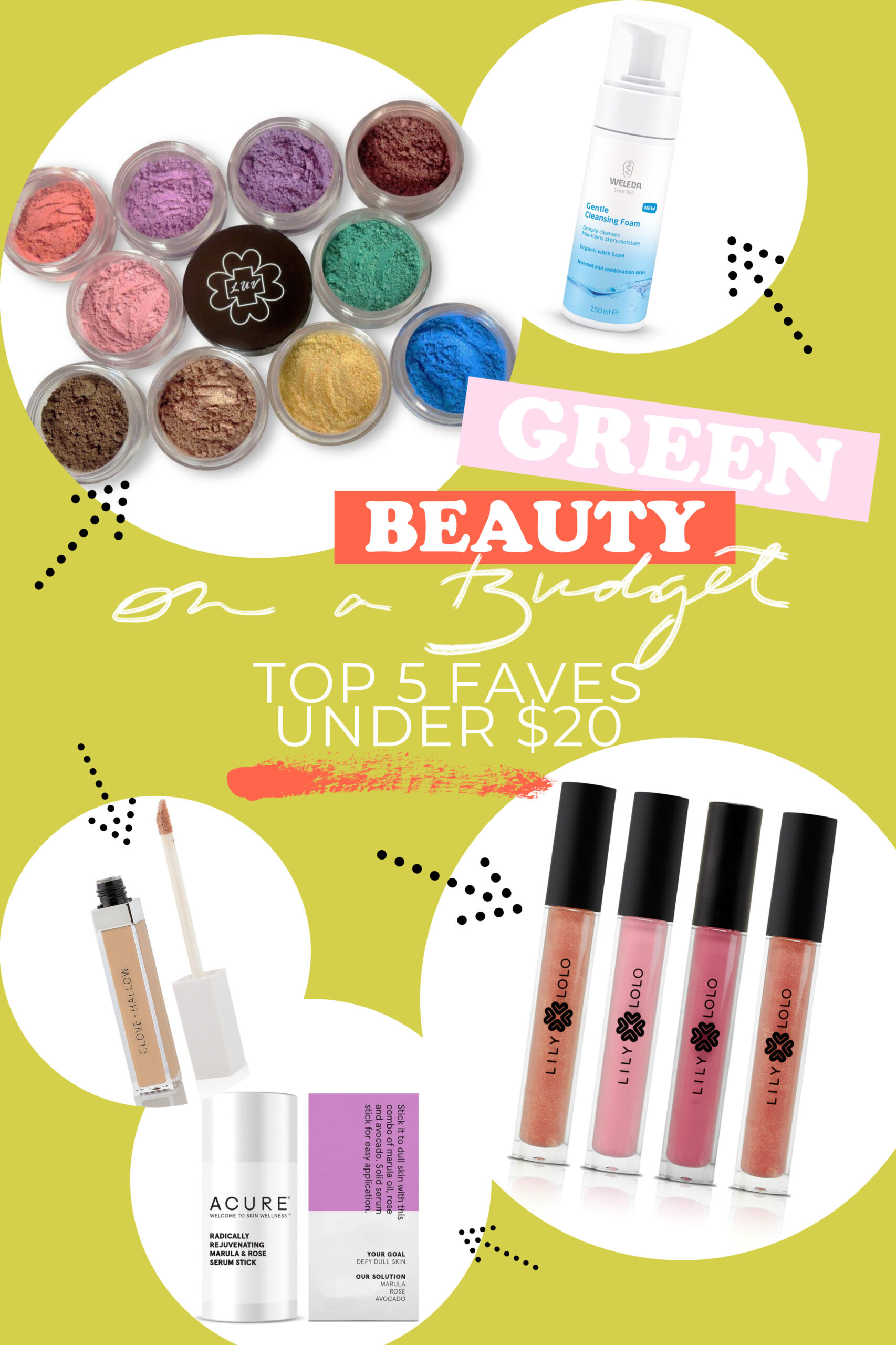 Green Beauty on a Budget: Top 5 Faves Under $20