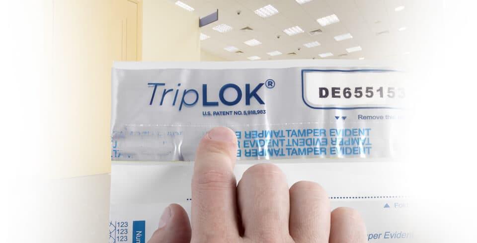 Tamper-evident cash bag, TripLOK, by CONTROLTEK.