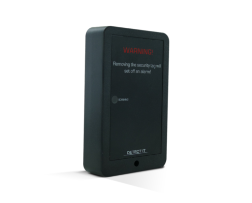 Detect-It, a small black box, discourages shoplifters from removing EAS tags in fitting rooms.