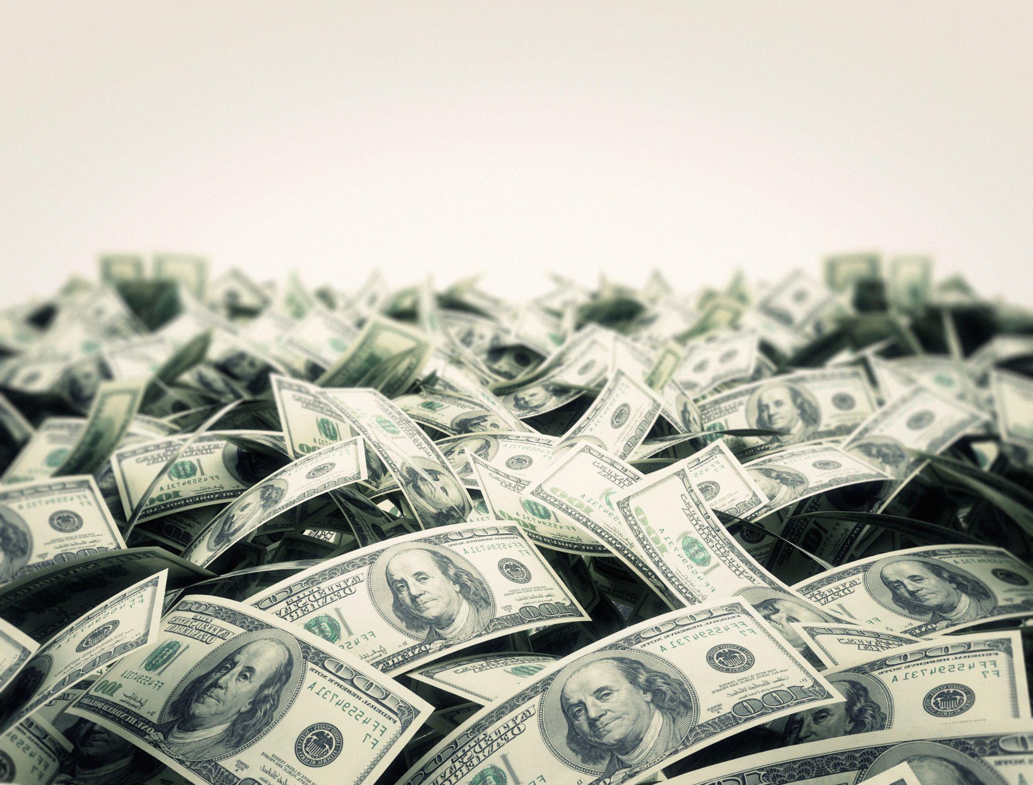 Heap of hundred Dollar Bills