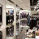 fashionable brend new interior of cloth store