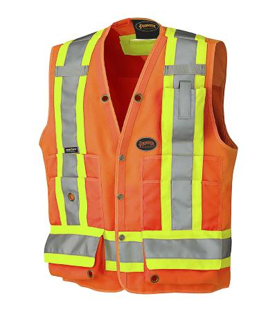 PIO 6692 – Pioneer Hi-Viz 150D Surveyor's Safety Vest – Prod Img