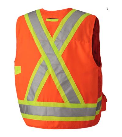 PIO 6692 – Pioneer Hi-Viz 150D Surveyor's Safety Vest – Gal Img 1