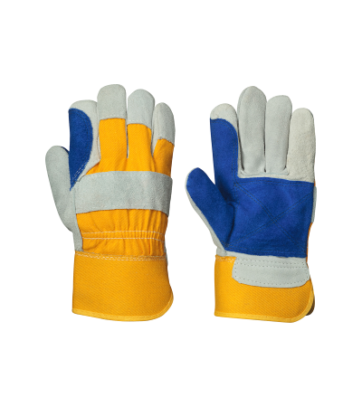 PIO 845 – Fitter's Double Palm Cowsplit Glove – Gal Img 1