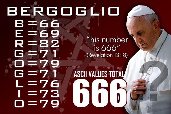 Jorge Mario Bergoglio, the False Prophet, and the Number 666