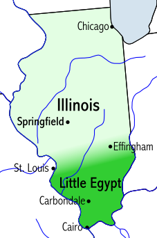 """2017 and 2024 eclipses will also form a cross or """"X"""" over the region known as Little Egypt in Illinois."""