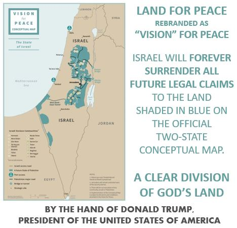 """The conceptual map from Trump's """"Deal of the Century"""" clearly shows the division of God's land"""