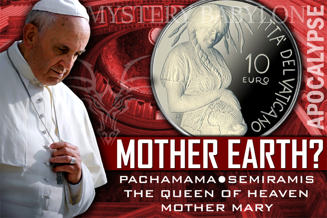 Pope Francis & Vatican Mint Pagan Mother Earth (Pachamama) Silver Coin