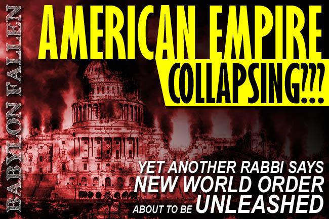 Rabbi Alon Anava Warns Collapse of American Empire Now Unfolding