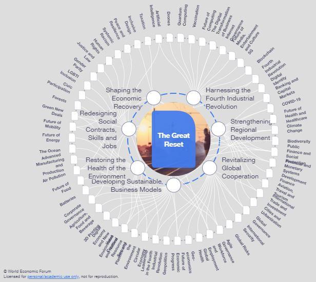 World Economic Forum Great Reset Implementation Map