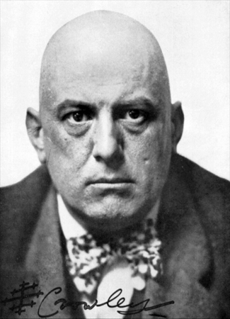 1912 photograph of Aleister Crowley, English occultist (Western esotericism) and founder of the religion of Thelema