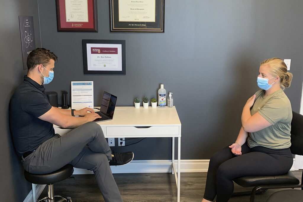 Meeting with chiropractor