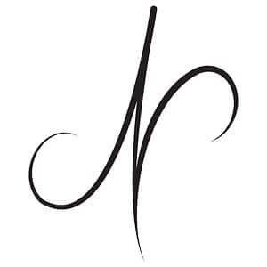 Nicolette Cantillo, freelance graphic designer, personal logo, floral N