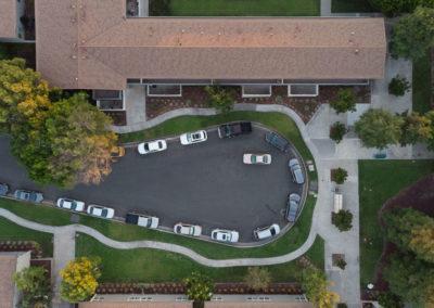 Drone overview of Park Del Amo Apartment Homes