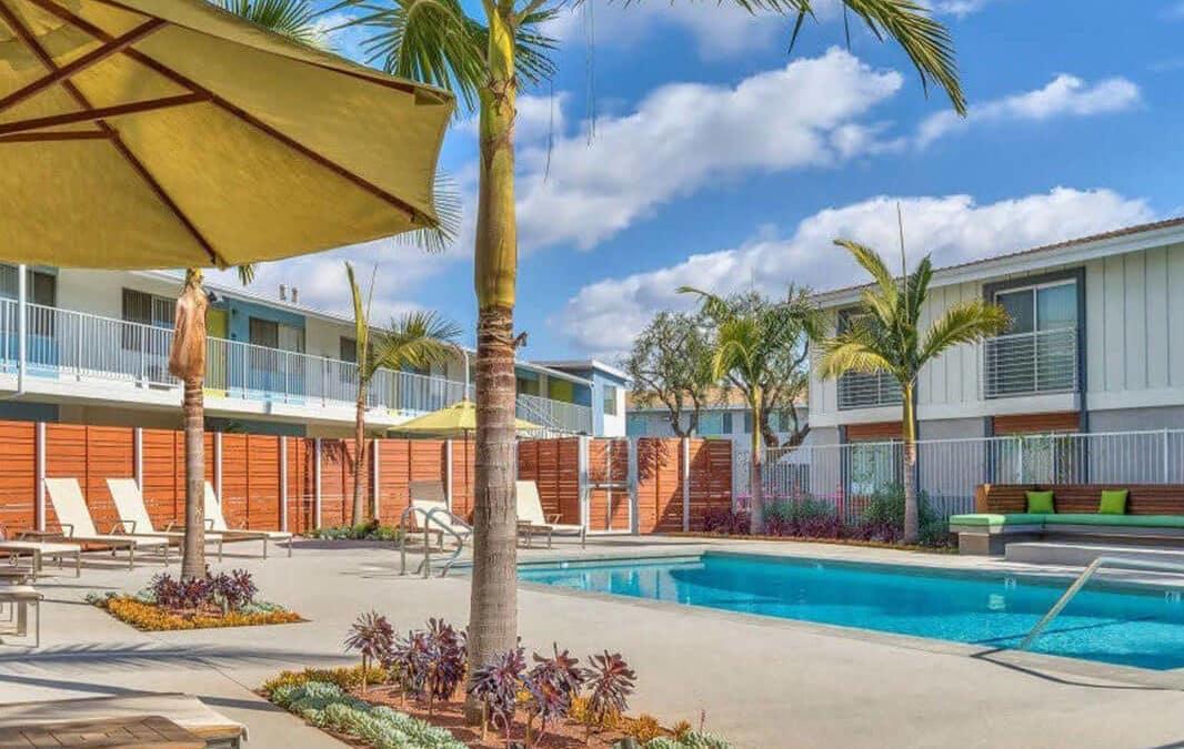 Relaxing resort style pool