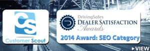CUSTOMER SCOUT Driving Sales 2014 SEO Award