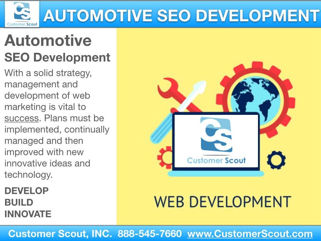 Customer Scout Automotive SEO Development