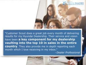 Automotive SEO Reviews Customer Scout