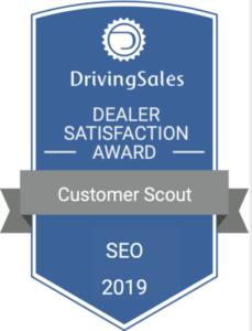 Customer Scout SEO Driving Sales 2019 Award