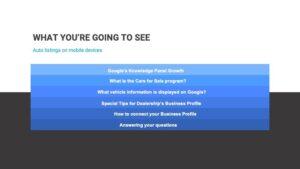 Google GMB Inventory Automotive -