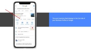 Car Inventory on Google GMB Inventory - Customer Scout