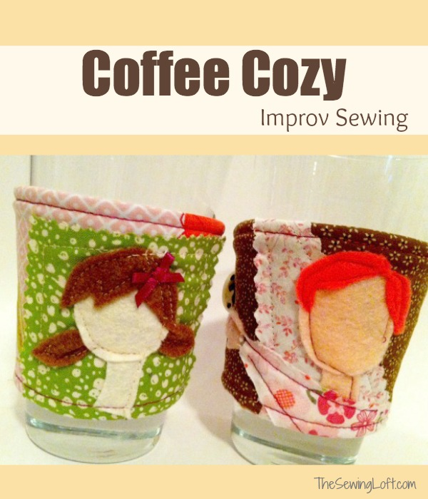 Create a fun Coffee Cozy with improve sewing. The Sewing Loft