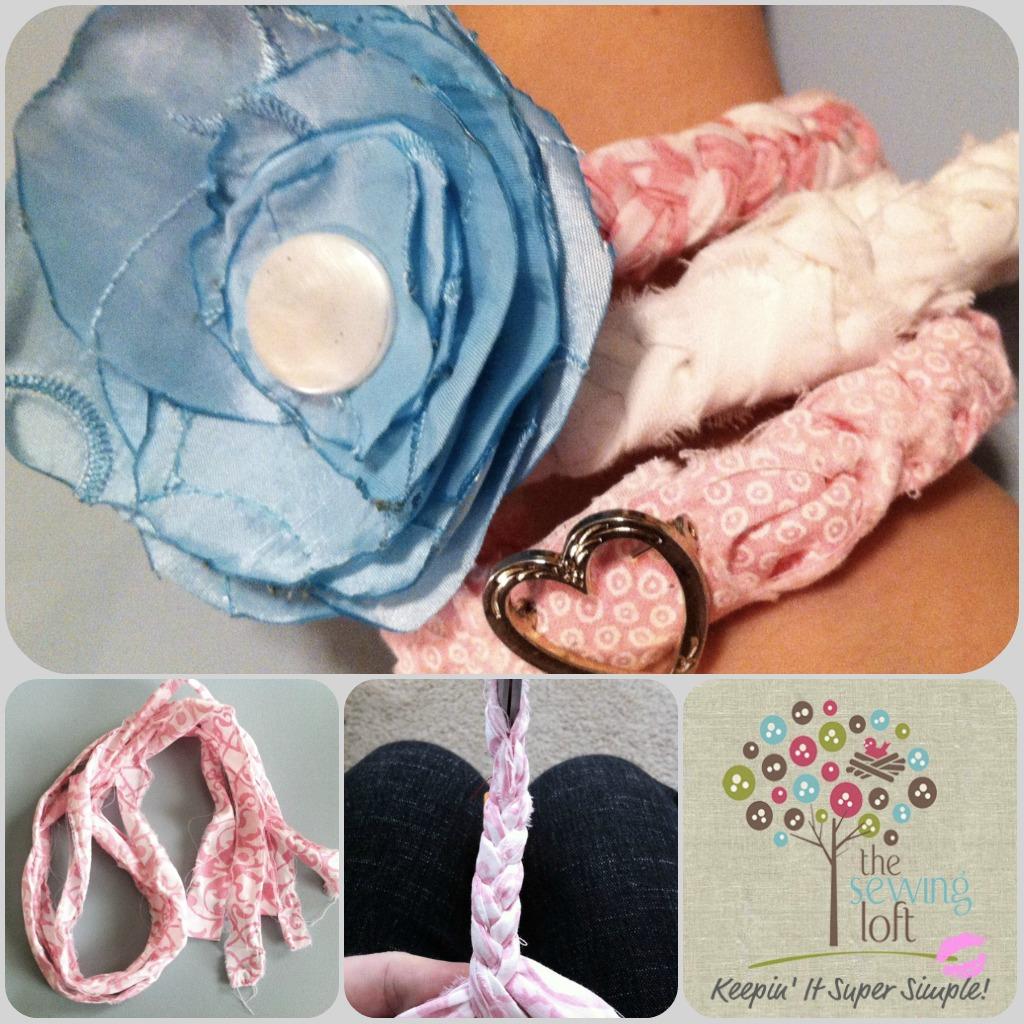 Braided Fabric Bracelet