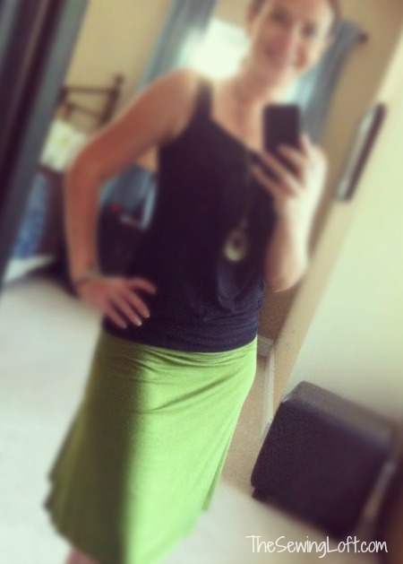 Skirt DIY.  Learn how to copy your favorite skirt. I made this one.